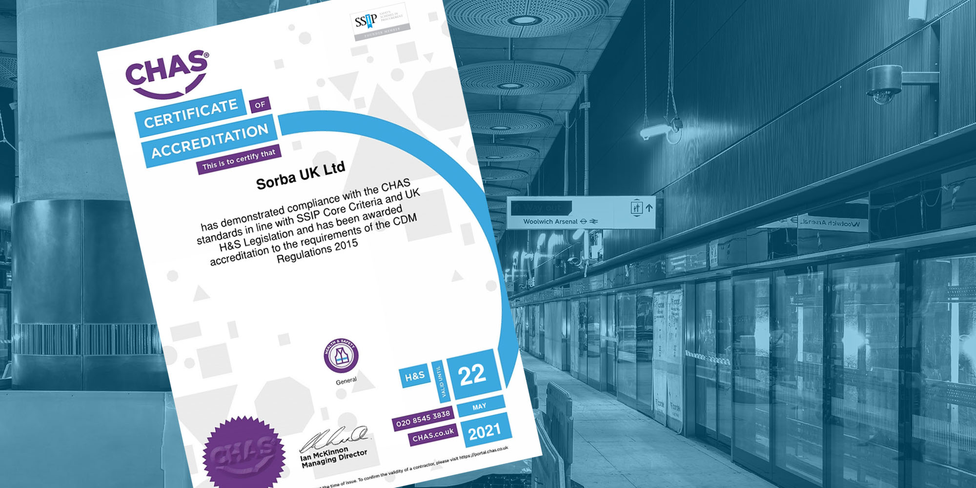Sorba UK Limited Gains CHAS Health & Safety Standard