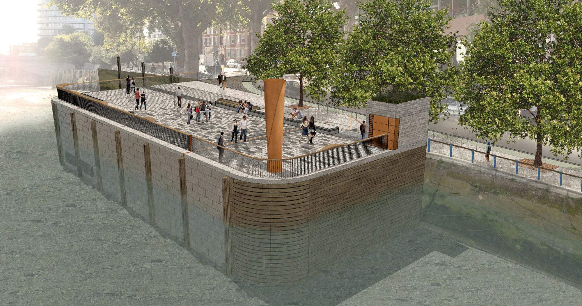 Thames Tideway Putney Embankment Bronze Column