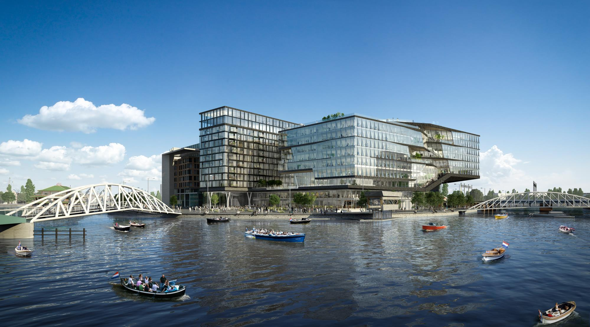 Oosterdokseiland Amsterdam| Sorba Projects | UNStudio | Seen from the IJ
